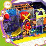 Kids Indoor Playground Equipment/ Fiberglass Slide and Rainbow Net