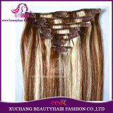 Remy Hair Fashion Mixed Color P27/613# Clip on Hair Extension