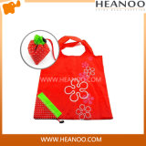 Custom Strawberry Reusable Foldable Pouch Shoulder Tote Shopping Bag