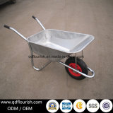 Zinc Plated Galvanized Wheelbarrow Rubber Wheel Barrow Cart Wb6419