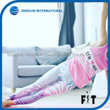 Tight Leggings Pink Random Stripe Fitness Workout Yoga Trousers