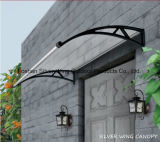 Polycarbonate Plastic Door Awning Fiberglass Bracket Canopy with Water Gutter (YY-L)