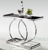 Hotel Furniture Stainless Steel Simple Glass Table (X808)