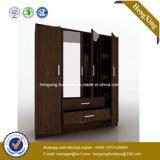 Customize Wooden Wardrobe Closet / Bedroom Storage Closet with Mirro (HX-LC3082)