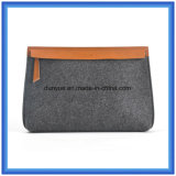 Young Design Wool Felt Portable Handbag, Customized Promotion Gift Laptop Briefcase with Zipper