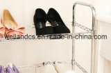 4 Tier DIY Adjustable Chrome Metal Wire Shoe Shelf Organizer