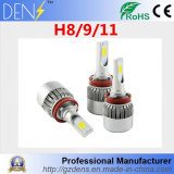COB Chips 6000k H8 H9 H11 LED Lights for Car