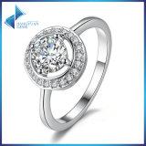 Luxury Brand Fashion Platinum Plated Round Shape Brass Ring