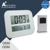 Large Digit LED Digital Wall Calendar Clock with Outdoor Sensor