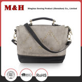 Coustom Genuine Leather Casual Gray Ladies PU Handbag