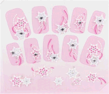 Fashionable 3D Flower Rhinestone Nail Art Stickers Nail Sticker