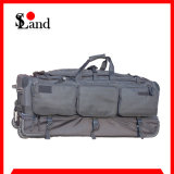 Police High Capacity Black Wheeled Luggage Bag