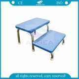 AG-Fs008 Anti-Skidding 304 Stainless Steel Double Foot Stool