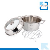 SGS Certificate Stainless Steel Multi-Function Steamer & Saucepot