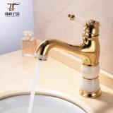 New Design Single Handle Zf-704 Jade Brass Basin Mixer