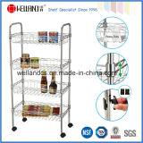 NSF Approval Chrome Metal Wire Kitchen Basket Rack Trolley