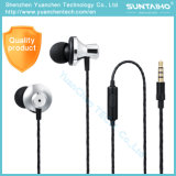 A6 3.5mm in-Ear Metal Earphone with Microphone Supper Bass Earbuds