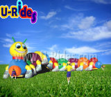 Fruit worm Inflatable Tunnel game for Children