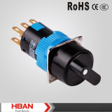 Hbs1-Ay-22xd/3 DOT-Illuminated 2- Position Round Selector Button Switch