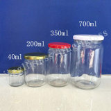Wholesale Any Size 200ml 350ml 500ml 700ml Glass Jars with Lids