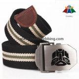 Stripe Polyester Cotton Webbing Belt, Outdoor Fabric Belt