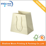 Trapezoid Creamy White Handle and Paper Bag (QY150255)