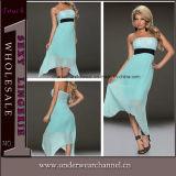 Plus Size Women Long Evening Prom Chiffon Maxi Dress (N183)