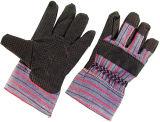 Black Vinyl Coated PVC Dotted Cotton Back Work Glove