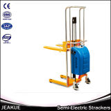 Material Handling Equipment 4000kg Platform Semi Electric Stacker