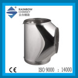 Double Wall Stainless Steel Chimney Tee with Cap