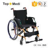 Topmedi Lightweight Aluminum Outdoor Manual Foldable Wheelchair