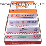 White Exterior and Natural/Kraft Interior Pizza Box (PB160619)