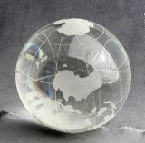 Crystal Sandblasting Globe Clear Crystal Ball
