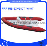 Fiberglass Fishing Boat Sxv580t/Sxv640t with Inflatable PVC Tube