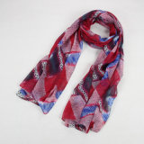 Fashion Lady Voile Scarves Multicolor Color Cotton Female Scarf