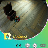 Commercial 12.3mm AC4 Crystal Hickory Sound Absorbing Laminate Floor