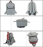 Kid′s Nylon Cool Grey Shark Backpack