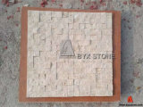 Beige Stone Travertine Mosaic for Wall Decoration