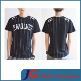 Short Sleeves Black T Shirt Design Men′s Shirt (JS9011m)