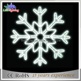 White Lighted Rope Light Christmas Snowflake Light IP44