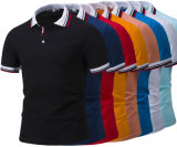 High-End Colors Yarn Dye Striped Collar Custom Polo Shirts for Retail (OEM)