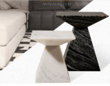 Small Cute Natural Marble Coffee Table Set for Home (TC-090)