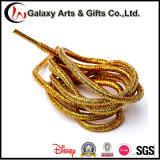 120cm Multi-Colour Round Fashion Silvery Shiny Flat Golden Gitter Shoelace