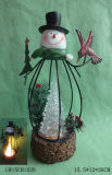 Christmas Statue Candle Holder Furniture for Home Decoration