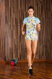 Woman′s Spandex+Polyester Teamsports Gym Running Fitting Compression Sportswear