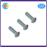 Steel/4.8/8.8/10.9 Flower/Cinquefoil Pan Head Inch Self Tapping Screw with Washer