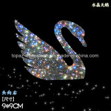 Crystal Sticker Self Adhesive Swan Czech Crystal Car Sticker 3D Car Accessories (TP-swan)