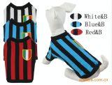 Stripes Pet Soccer Jersey Dog Football Costumes T-Shirt