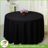 Custom Polyester Fabric Cheap Black Round Tablecloth for Sale
