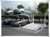 Tilting Two Post Double Layer Car Lift Auto Parking Systems